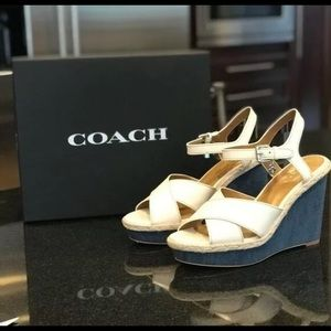 Coach Wedge Platform casual Sandals Size 8.5 M